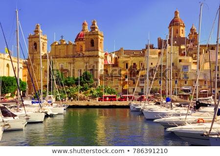 ver · cidade · velha · Malta · porto · edifícios · urbano - foto stock © travelphotography