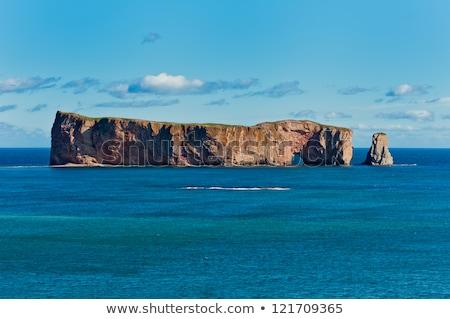 Rocha península Quebec Canadá céu água Foto stock © bmonteny