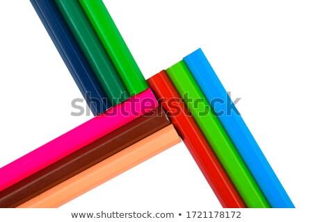 mum · boya · kalemtıraş · kâğıt · kalem · arka · plan · mavi - stok fotoğraf © nito