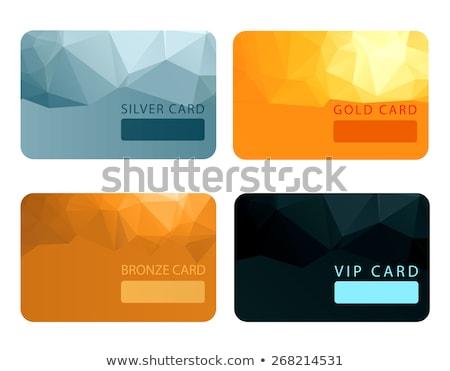 Luxe bronzen lid kaart vip registratie Stockfoto © liliwhite