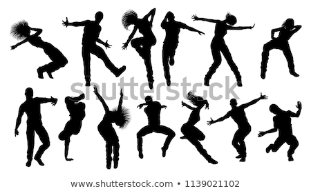 hip hop and breakdance silhouettes vector illustration ...