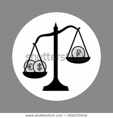 finansowych · równowagi · złota · znak · dolara · stabilny · równowaga - zdjęcia stock © 3mc