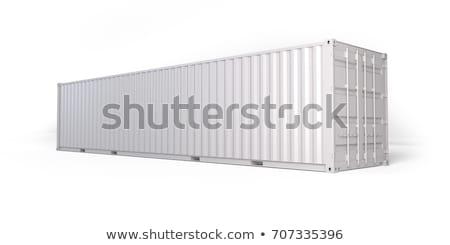 Orange Container in 3D Isolated on White. Stock photo © tashatuvango