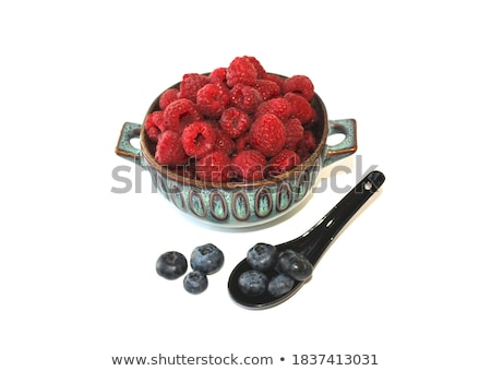 Fresh raspberries in a dish Stock photo © raphotos
