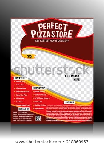 pizza · magasin · flyer · modèle · internet · design - photo stock © rioillustrator