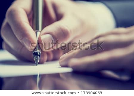 Escritor caneta-tinteiro papel trabalhar amor Foto stock © mizar_21984