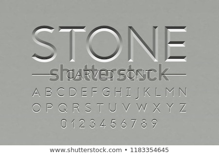 font carved in stone stock photo © voysla