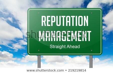 Içerik yönetim karayolu tabelasını yol arka plan Stok fotoğraf © tashatuvango
