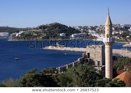 Minaret château mosquée religion musulmans Turquie Photo stock © magraphics