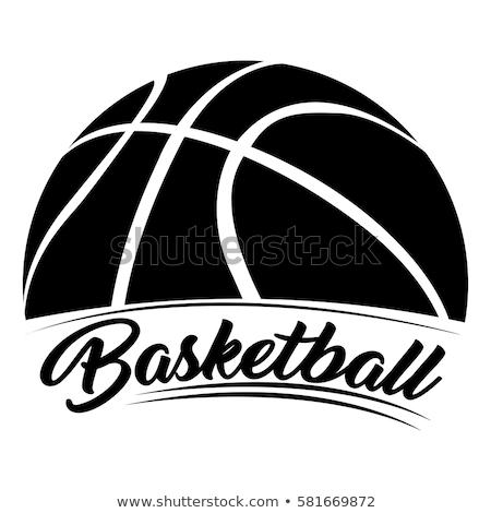 kind · spelen · basketbal · cartoon · illustratie · kinderen - stockfoto © lenm