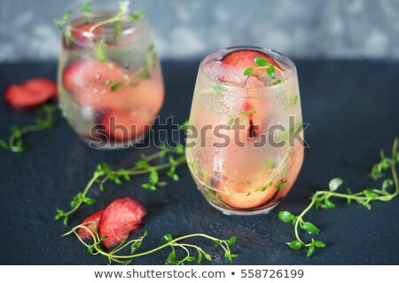 Plums in ice cube Stock photo © Givaga