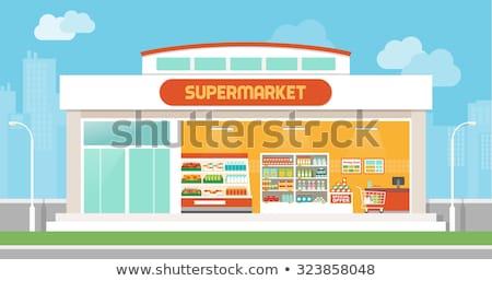 Stock fotó: Drága · élelmiszerbolt · fiatal · nő · kiált · hosszú · nyugta
