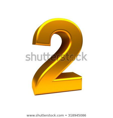 Number Two on golden platform Stock photo © creisinger