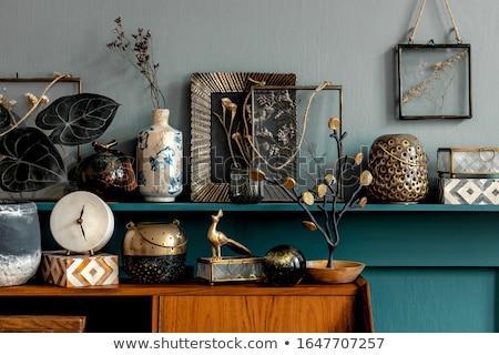 Klasszikus lakberendezés kettő üveg barna üvegek Stock fotó © manera