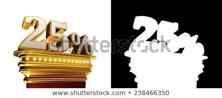 Twenty five percent figure over white background Stock photo © creisinger