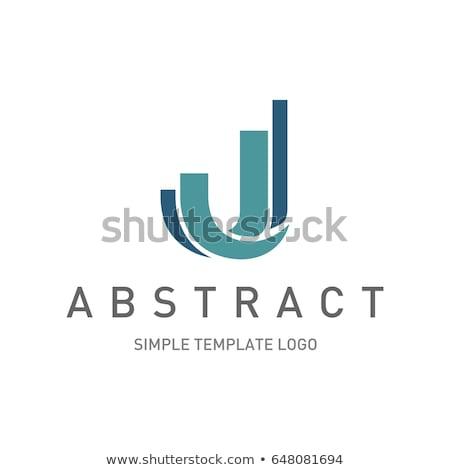 Logo abstract brief pijl sport ontwerp Stockfoto © shawlinmohd