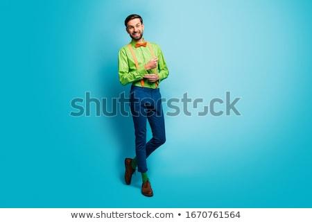 ハンサム · 小さな · ファッション · 男 · 髪 - ストックフォト © feedough