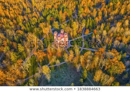 Autumn landscape with Pavilion  in Alexander's garden Stock photo © Pilgrimego