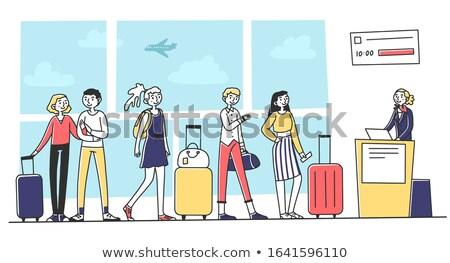 搭乗 荷物 実例 空港 スーツケース パスポート ストックフォト © adrenalina