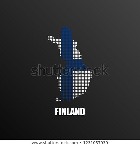 Térkép köztársaság Finnország pont minta vektor Stock fotó © Istanbul2009