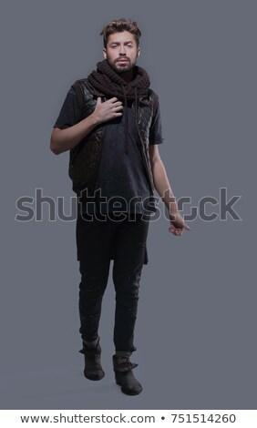 individuality trendy fashion model in pants stock photo © gromovataya
