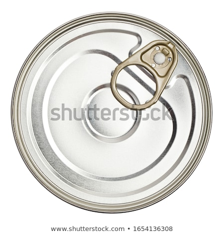 Isolated Cat food can lid Stock photo © njnightsky