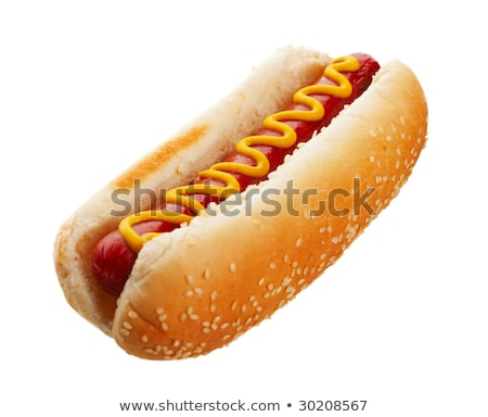 old-fashioned hot dog with mustard Stock photo © ozaiachin