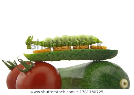 tomatoes  and courgettes on balance Stock photo © Antonio-S