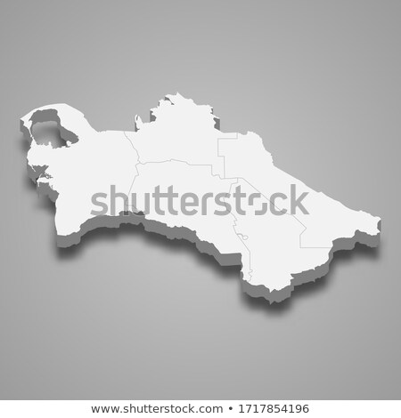 Térkép Türkmenisztán zászló szimbólum fehér háttér Stock fotó © mayboro1964