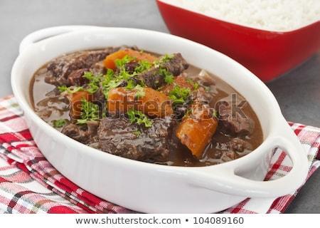 シチュー フランス語 牛肉 ワイン 野菜 ストックフォト © fanfo