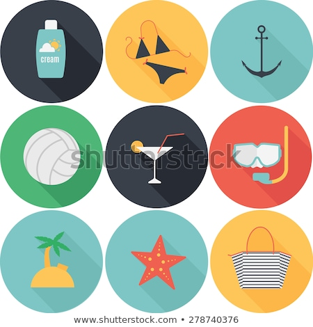 Flat Summer Swimsuit Circle Icon with Long Shadow Stock photo © Anna_leni