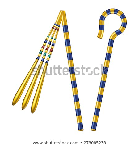 Crook And Flail Of Ancient Egypt Pharaohs Stock photo © PeterHermesFurian