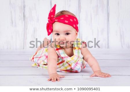 Adorable lady wiearing a headscarf Stock photo © majdansky