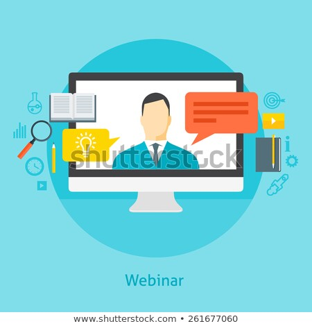 Flat design colorful vector illustration concept for webinar, on Stock photo © WaD