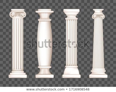 iônico · pormenor · coluna · três · colunas · antigo - foto stock © dcslim