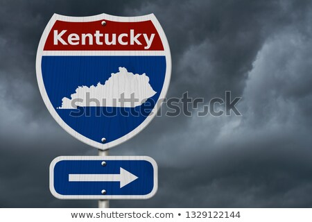 kentucky ky state red 3d map stock photo © iqoncept