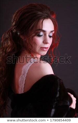 autentikus · nő · portré · közelkép · portré · szép · nő - stock fotó © gromovataya