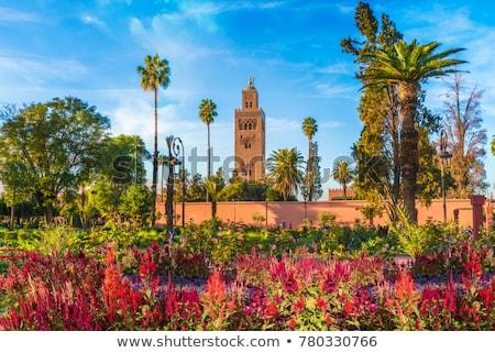 минарет · мечети · центр · Марокко · закат · путешествия - Сток-фото © tony4urban