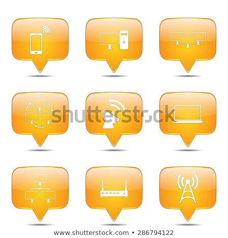 telecom communication square vector yellow icon design set 2 stock photo © rizwanali3d