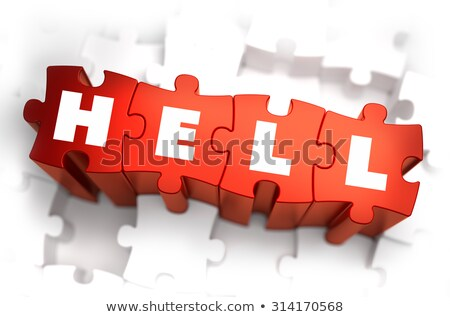 Infierno texto rojo blanco 3d muerte Foto stock © tashatuvango