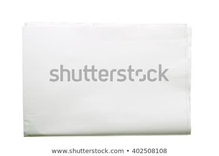 összehajtva újság bulvárlap izolált illusztráció vektor Stock fotó © orensila