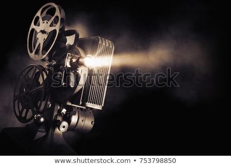 ヴィンテージ · アナログ · カメラ · 革 · 白 - ストックフォト © donatas1205