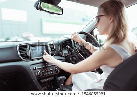 Femminile dito GPS navigazione Foto d'archivio © stevanovicigor
