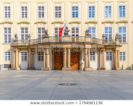 Praha wrażenie detal architektoniczny Czechy okno miejskich Zdjęcia stock © prill