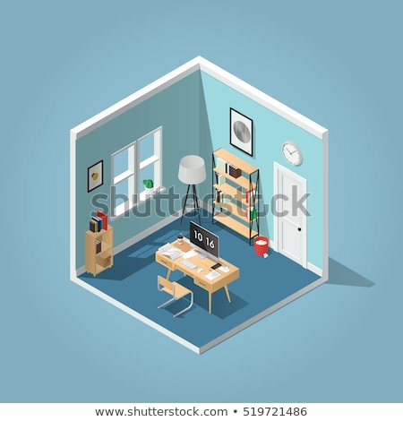 Side view of home or office furniture- sofa  Stock photo © shawlinmohd