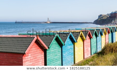 beira-mar · recorrer · norte · yorkshire · praia · céu - foto stock © chris2766