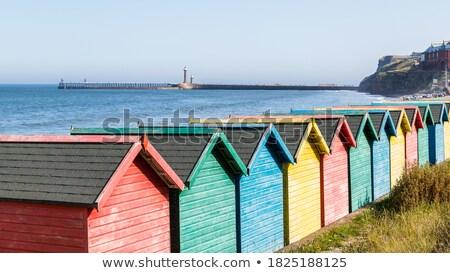 colorido · praia · blue · sky · verão - foto stock © chris2766