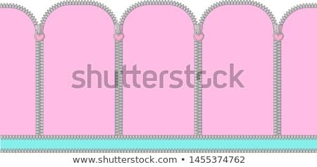 Zipper Frame Stock photo © Lightsource