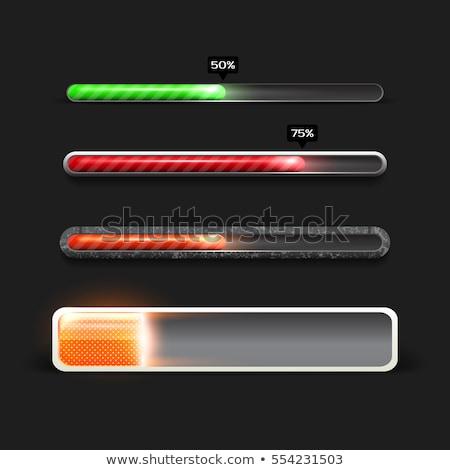 green vector progress bars stock photo © netkov1