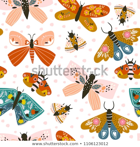 aranyos · pillangók · gyűjtemény · tavasz · pillangó · boldog - stock fotó © netkov1